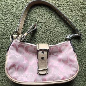 Coach mini pink handbag